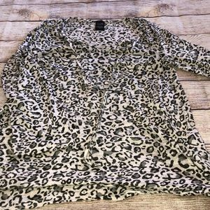 Leopard print swim cover up with pockets